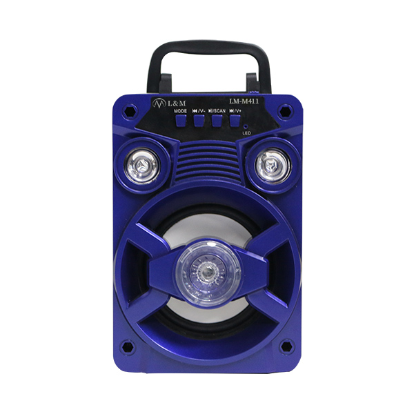 LM-M411 Blue Portable Bluetooth Speaker