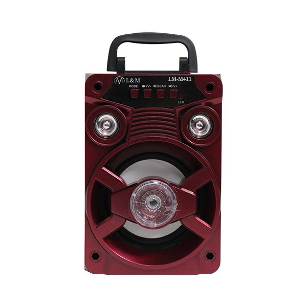 LM-M411 Red Portable Bluetooth Speaker
