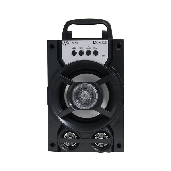 LM-M413 Black Portable Bluetooth Speaker